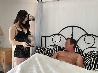 Elder man enjoys fucking super sexy brunette Jayde Symz