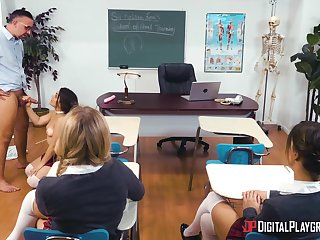 Anal sex in the classroom with a really hot teenager