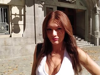 Ginger Russian bitch Kitana Lure gives a blowjob and gets fucked hard