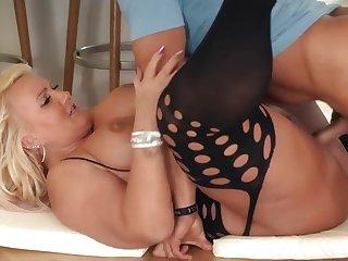 Big-Titted German Slut Kitty Take Hard Knob