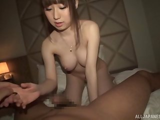 Trimmed puss chick Momoka Sakai moans with pleasure during sex
