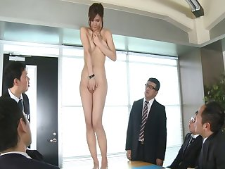 Attractive hottie Nono Mizusawa drops her clothes for an office orgy