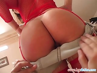 Ass fucked hardcore and cum sprayed on her face Ariana Jolie
